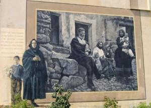 Murales Fonni - život v obci