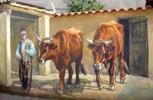 Murales San Sperate - krávy